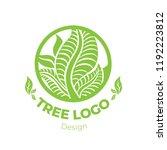 vector stylish floral logo  ... | Shutterstock .eps vector #1192223812