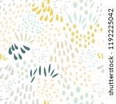 vector organic seamless... | Shutterstock .eps vector #1192225042