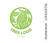 vector stylish floral logo  ... | Shutterstock .eps vector #1192225732