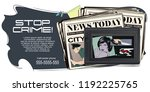 stock illustration. people in... | Shutterstock .eps vector #1192225765