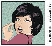 stock illustration. portrait of ... | Shutterstock .eps vector #1192225768