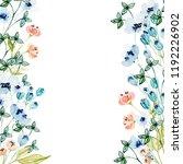 watercolor floral arrangements... | Shutterstock . vector #1192226902