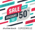 sale   discount 50  concept... | Shutterstock .eps vector #1192230112