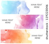 set of three banners  abstract... | Shutterstock . vector #119223046