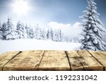 table background and winter...   Shutterstock . vector #1192231042