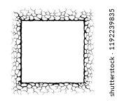 frame with cracks. concrete...   Shutterstock .eps vector #1192239835