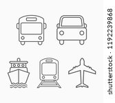 transportation icon  transport... | Shutterstock .eps vector #1192239868