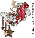 vector christmas fir tree... | Shutterstock .eps vector #1192239958
