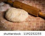 still life yeast dough and a... | Shutterstock . vector #1192252255