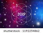 astrological new year 2019... | Shutterstock .eps vector #1192254862