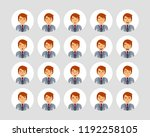 vector young adult man avatars... | Shutterstock .eps vector #1192258105