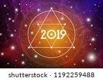 astrological new year 2019... | Shutterstock .eps vector #1192259488