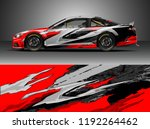 car wrap design vector. graphic ... | Shutterstock .eps vector #1192264462