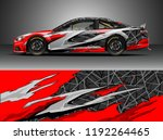 car wrap design vector. graphic ... | Shutterstock .eps vector #1192264465
