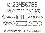 alphabet type design. hand pen... | Shutterstock .eps vector #1192266898