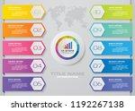 10 steps presentation chart.... | Shutterstock .eps vector #1192267138