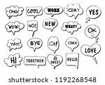 vector bubbles speech doodle...   Shutterstock .eps vector #1192268548