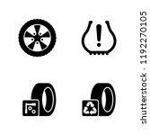 tire fitting  wheels disks.... | Shutterstock .eps vector #1192270105