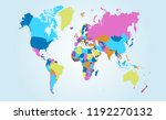 color world map vector | Shutterstock .eps vector #1192270132