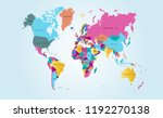 color world map vector | Shutterstock .eps vector #1192270138