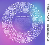 cyber technology concept in... | Shutterstock .eps vector #1192274818