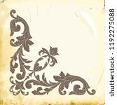 retro baroque decorations... | Shutterstock .eps vector #1192275088