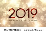 shiny happy new year 2019... | Shutterstock .eps vector #1192275322