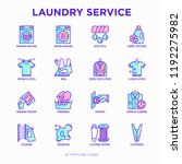 laundry service thin line icons ... | Shutterstock .eps vector #1192275982