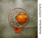 basketball icon  old style... | Shutterstock .eps vector #119227672
