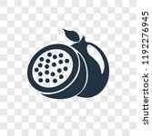 passion fruit vector icon... | Shutterstock .eps vector #1192276945