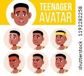teen boy avatar set vector....   Shutterstock .eps vector #1192282258