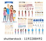 big family character set for... | Shutterstock .eps vector #1192288492
