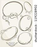 five decorative oval frame. | Shutterstock .eps vector #119228902
