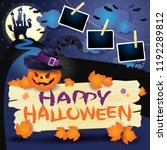 halloween background with... | Shutterstock .eps vector #1192289812