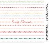 divider line design elements... | Shutterstock .eps vector #1192289932