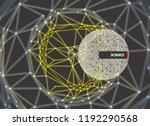 cobweb or spider web. network...   Shutterstock .eps vector #1192290568