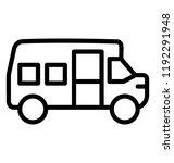 a road transport bus  school or ... | Shutterstock .eps vector #1192291948
