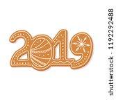 christmas gingerbread cookie... | Shutterstock .eps vector #1192292488