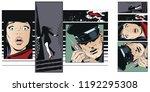stock illustration. people in... | Shutterstock .eps vector #1192295308