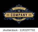 vintage badge  engraving retro... | Shutterstock .eps vector #1192297732