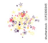 doodle stars. hand drawn new... | Shutterstock .eps vector #1192300345