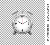 realistic classic silver alarm... | Shutterstock .eps vector #1192303495