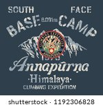 annapurna himalaya south face... | Shutterstock .eps vector #1192306828