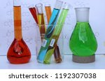 organic chemistry. measuring... | Shutterstock . vector #1192307038