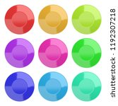 collection of empty colorful... | Shutterstock . vector #1192307218