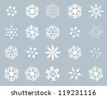 Snowflake Winter Set Vector...