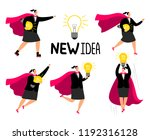 new idea concept business woman ... | Shutterstock .eps vector #1192316128