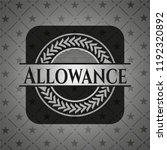 allowance dark emblem. retro | Shutterstock .eps vector #1192320892