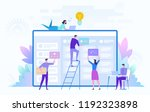 business team working on big... | Shutterstock .eps vector #1192323898