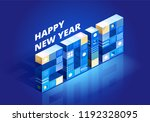 2019 happy new year background... | Shutterstock .eps vector #1192328095